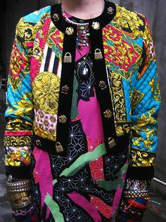 closer view of digital print layering http://lookbook.nu/look/2801153-Tribal-Print-Socks-Worn-As-Gloves-Neo-Boardshorts