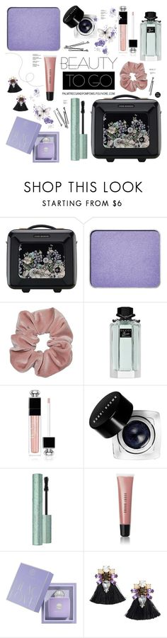 """""""Beauty on the Go!"""" by palmtreesandpompoms ❤ liked on Polyvore featuring beauty, Ted Baker, shu uemura, BOBBY, Gucci, Christian Dior, Bobbi Brown Cosmetics, AMOUAGE and H&M"""