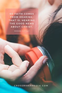 So faith comes from hearing, that is, hearing the good news about Christ. - Romans 10:17 NLT Scriptures, Bible Verses, Book Publishing Companies, Daily Bible, Romans, Good News, Christianity, Faith, Good Things