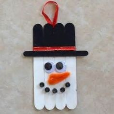 Image of Craft Stick Snowman