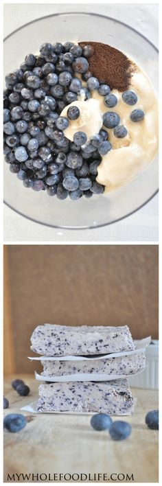 All you need is 4 ingredients to make these Blueberry Bliss Bars with zero processed sugar!