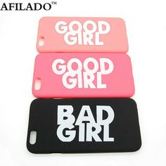 Fashion Cute BAD GOOD GIRL Pattern Hard Plastic Ultra Thin Back Cover for Apple iPhone 6 6s 4.7'' Funny Slim Phone Case Shell #>=#>=#>=#>=#> Click on the pin to check out discount price, color, size, shipping, etc. Save and like it!
