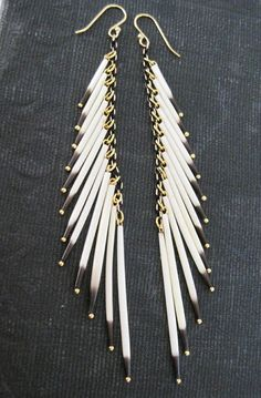 Cleopatra - Porcupine Quill Tassel Earrings