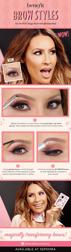 Brow Styles: Get the 90s Grunge Brow with @Desiperkins