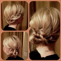 Waterfall braid twisted to a bun by shannon at de Riah! Hair Affair, Braided Updo, Updos, Locks, Waterfall, Hair Makeup, Braids, Hair Beauty, Hairstyles