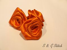 Satin Rosen in Orange !