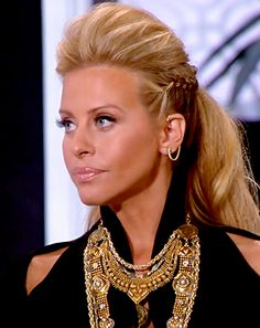 Real Housewives of New Jersey Reunion: Dina Manzo Talks Family Feud - Us Weekly. I'm pinning this for her side braid <3