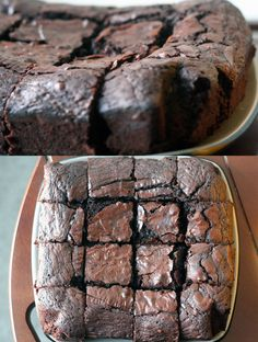 Nigella everyday brownie using cocoa powder and weight measures .  About 180 fan oven.
