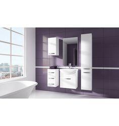 Ensemble de salle de bain KORAL BLANC55cm - Meuble Salle de bain une vasque - Décoration salle de bain