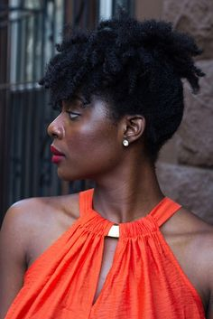 Natural Updo, Dark Skin, Updos, Black And Brown, Descendants, Beauty, Woman, Natural Hairstyles, Up Dos