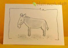 Weiteres - Grusskarte Esel individuell handgemalt - ein Designerstück von blattwerkstatt bei DaWanda