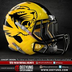 Just for fun, Deeyung Entertainment has created a series of potential alternate design concepts for SEC and other college and professional football helmets. They're designed as alternates, not to replace each school's traditional helmet design.