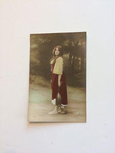 Vintage gypsy postcard, Mignon Moreau Paris, German postcards, ephemera