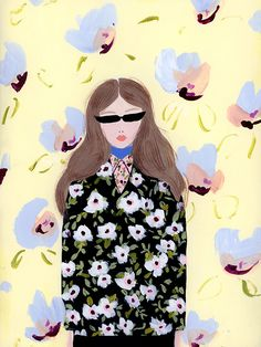 Katy Smail paints florals from the world of fashion in such a whimsical way, you can even watch her paintings as they take shape at high speed on her Insta
