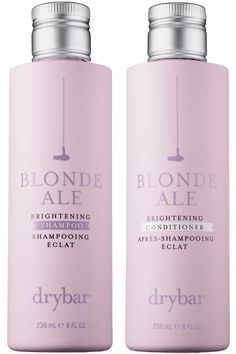 13 best shampoos and conditioners. For Blonde Hair; Drybar Blonde Ale Brightening Shampoo and Brightening Conditioner.(Best Hair Tips) Best Blonde Shampoo, Hair Shampoo, Best Purple Shampoo, Blonde Hair Care, Platinum Blonde Hair, Blonde Hair Products, Blonde Ale, Blonde Brunette, Good Shampoo And Conditioner