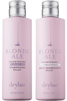 Drybar Blonde Ale Brightening Shampoo and Brightening Conditioner, $27 each, sephora.com.