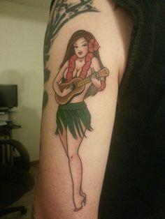 hula girl tattoo - Szukaj w Google