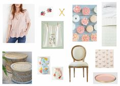 Monday Mix // 47 - Current things I'm loving - a pretty top and earrings to pair with your denim, Anthro finds for the kitchen, Target bargains, and really nice furniture pieces.  All details and links can be found on the blog.