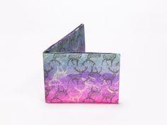 Wallet Set Tyvek Print Pattern Handmade CrispyWallet Deers