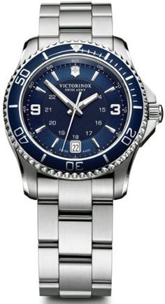 Victorinox Maverick Swiss Army Quartz Blue Dial Women's Watch - (241609) | Citizen Watches For You And Her