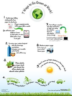 7 ways to Go Green at Work! Happy Earth Day 2012 from the team @ThomasNet.com  #earthday