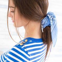 Alors prête pour le WE, moussaillon ?   #vaguebleue #marinièreaddict #bleuatlantique #bandanaforever #mode #fashion #outfit #femme #bienbienbien