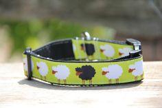 Sheep Dog Collar by HandmadeInTheHammer on Etsy, $15.00