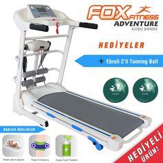 Fox Fitness Adventure -Target 60D Masaj Fonksiyonlu, Mekik Çekme Aparatlı Ebruli Top Hediyeli Katlanabilir Koşu Bandı