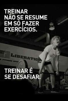 Treinar não se resume em só fazer exercícios. Treinar é se desafiar. #hojetemtreinoporra #workout #musculação