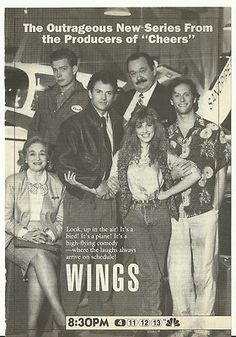 Wings magazine ads. Wings has always been and forever will be my favorite tv show. No Joke.