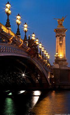 Pont Alexandre III  spanning the Seine River in Paris • photo romain villa on Flickr