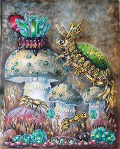 Hanna Karlzon 'Tidevarv' ('Seasons') from I really love paper in Swedish books. Colored Pencil Artwork, Coloured Pencils, Color Pencil Art, Coloring Book Art, Adult Coloring Pages, Colouring, Hanna Karlzon, Johanna Basford Coloring Book, Colored Pencil Techniques