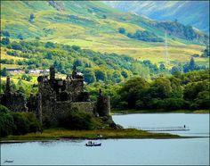 Kilchurn castle, Scotland highlands.  Yes, please.