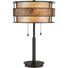 Laguna Copper Two Light Table Lamp Quoizel Shaded Table Lamps Lamps