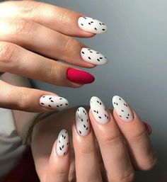 Simple And Elegant White Nail Designs When it comes to spells out classic and elegance.If you're looking for simple these beautiful white nail designs let you be a manicure minimalist. Heart Nail Art, Heart Nails, White Nail Designs, Acrylic Nail Designs, Fruit Nail Designs, White Nail Art, White Nails, Nail Art Blanc, Wedding Acrylic Nails