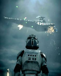 Trooper watching a Star Destroyer go down - Star Wars Clones - Ideas of Star Wars Clones - Trooper watching a Star Destroyer go down Star Wars Clone Wars, Rpg Star Wars, Star Wars Meme, Star Wars Ships, Star Wars Fan Art, Star Wars Clones, Star Trek, Star Destroyer, Images Star Wars