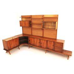 Rudolf Bernd Glatzel; Walnut Storage System for Fristho, 1960s.