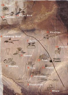 Map of Nazca Lines