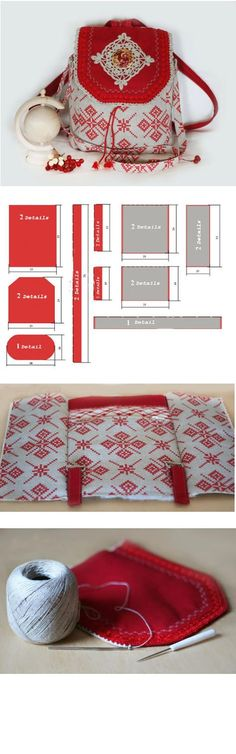 Step to Step Tutorial how to sew a pretty bag in Russian Style http://fastmade.blogspot.com/2016/06/blog-post.html