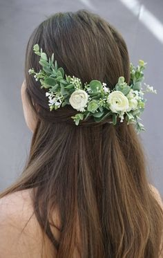 428842ecfe7 Flower crown wedding bridal flower hair comb flower half