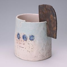 Craig Underhill - landscapes | Vessel with three blue circles | Our Artists | Online Ceramics