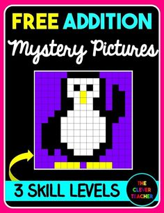 Differentiated Mystery Pictures are a great way to to review addition facts! This FREEBIE comes with 3 skill levels: beginner, intermediate, and advanced.