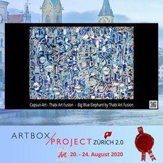 Bei capsun-art ist einiges im Gange. Auch in diesem Jahr haben wir beschlossen, an den ARTBOX.PROJECTS Zürich 2020 teilzunehmen. Elephant, Projects, Blue, Inspiration, Art, Original Paintings, Interior Designing, Log Projects, Biblical Inspiration