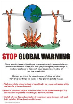 Global Warming Poster. do it