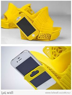 Innovation + lack of common sense = #3Dprinted shoe with smartphone holster!.Join the 3D Printing Conversation: http://www.fuelyourproductdesign.com/