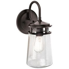 "Kichler Lyndon 15"" hi X 6""w.....$117....free ship/ret....outdoor rated....architectural bronze finish...max 100 w A19 bulb."