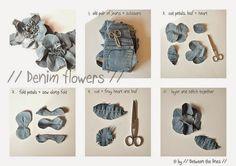 NaLaN'ın Dünyası                                      : DIY /// KOT ÇİÇEK YAPIMI /// DENIM FLOWERS