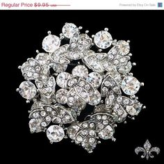 ON+SALE+Rhinestone+Brooch+Pin++Rhinestone+Crystal+by+SupplyWorld,+$8.96