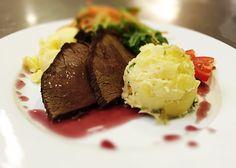 Denné menu Vranov | Pečený daniel vo vínnej redukcii, tlačený zemiak - reštaurácia Hotel Patriot*** #hotel #restaurant #lunch #food
