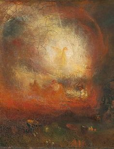 "Joseph Mallord William Turner, ""The Hero of a Hundred Fights,"" c. 1800-10 (detail), reworked and exhibited 1847. Oil paint on canvas. Tate Britain."